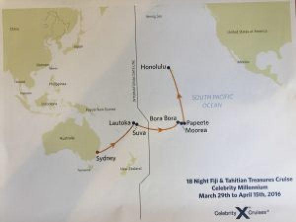 搭郵輪環遊世界一 跨太平洋航線/斐濟/大溪地【上】