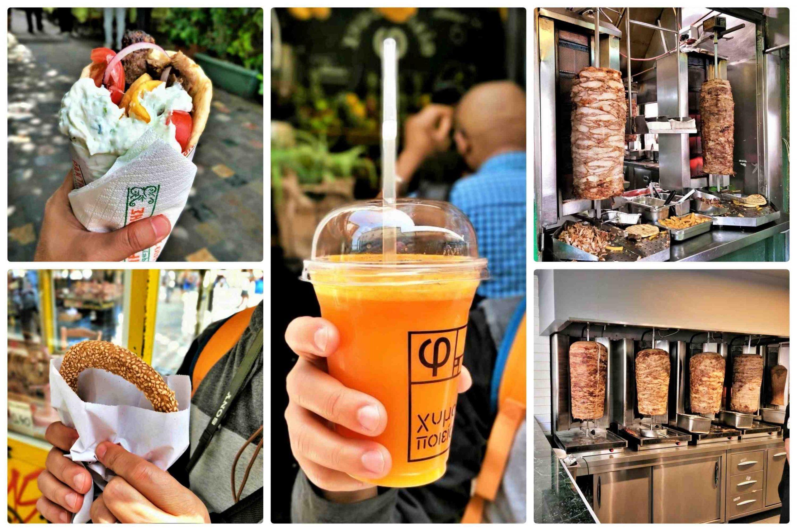 希臘雅典一日遊 - 希臘美食 Gyros & 現榨果汁