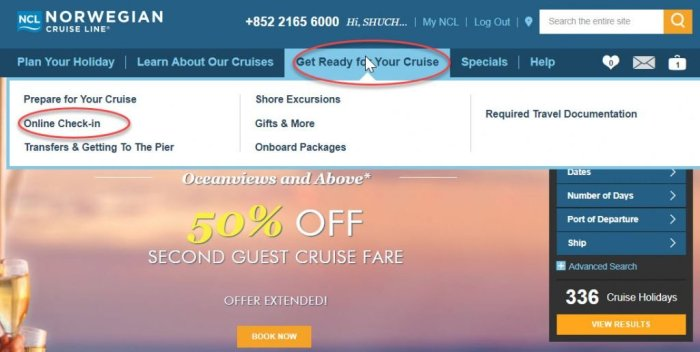 郵輪線上check in 挪威郵輪 Norwegian Cruise Line 範例分享