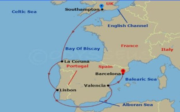 邮轮达人 - MSC Bellissima 嘉丽号首航地图