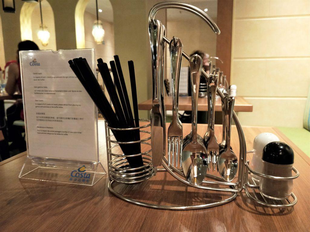 歌诗达威尼斯号 - 自助餐厅餐具