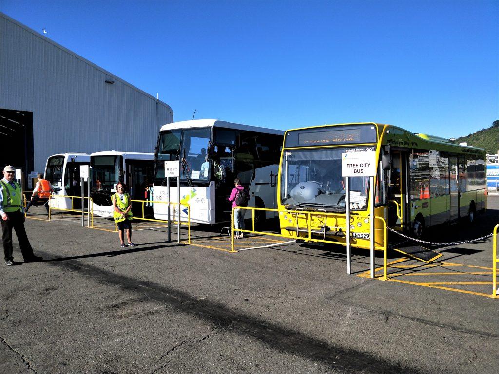 威灵顿岸上观光 - 免费接驳车到市区