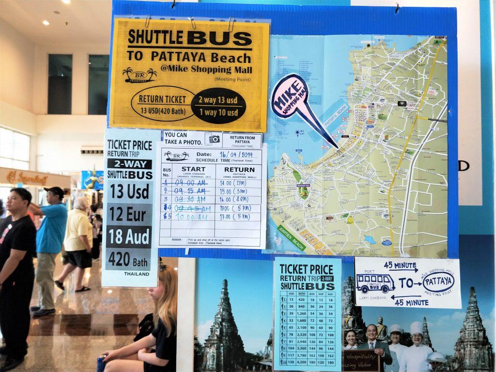 曼谷岸上自由行 - Shuttle Bus 價格