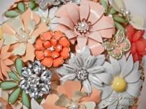 Coral Mint brooch bouquet web6
