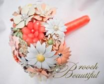 Coral Mint brooch bouquet web9