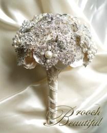 pearl bling brooch bouquet web3