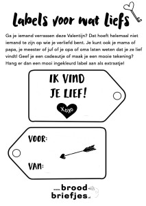 Labels voor Valentijn BroodBriefje