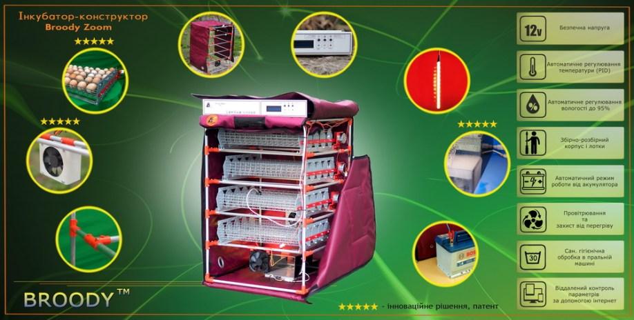 Інкубатор-конструктор Broody Zoom - повністю автоматичний інкубатор
