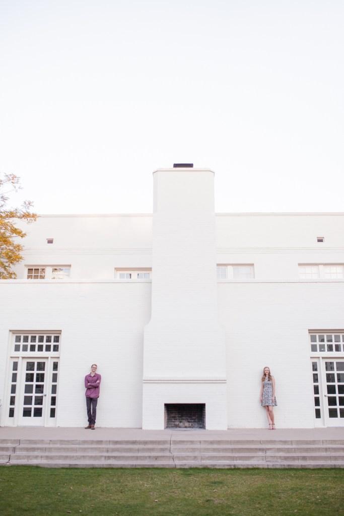 college campus engagement pictures