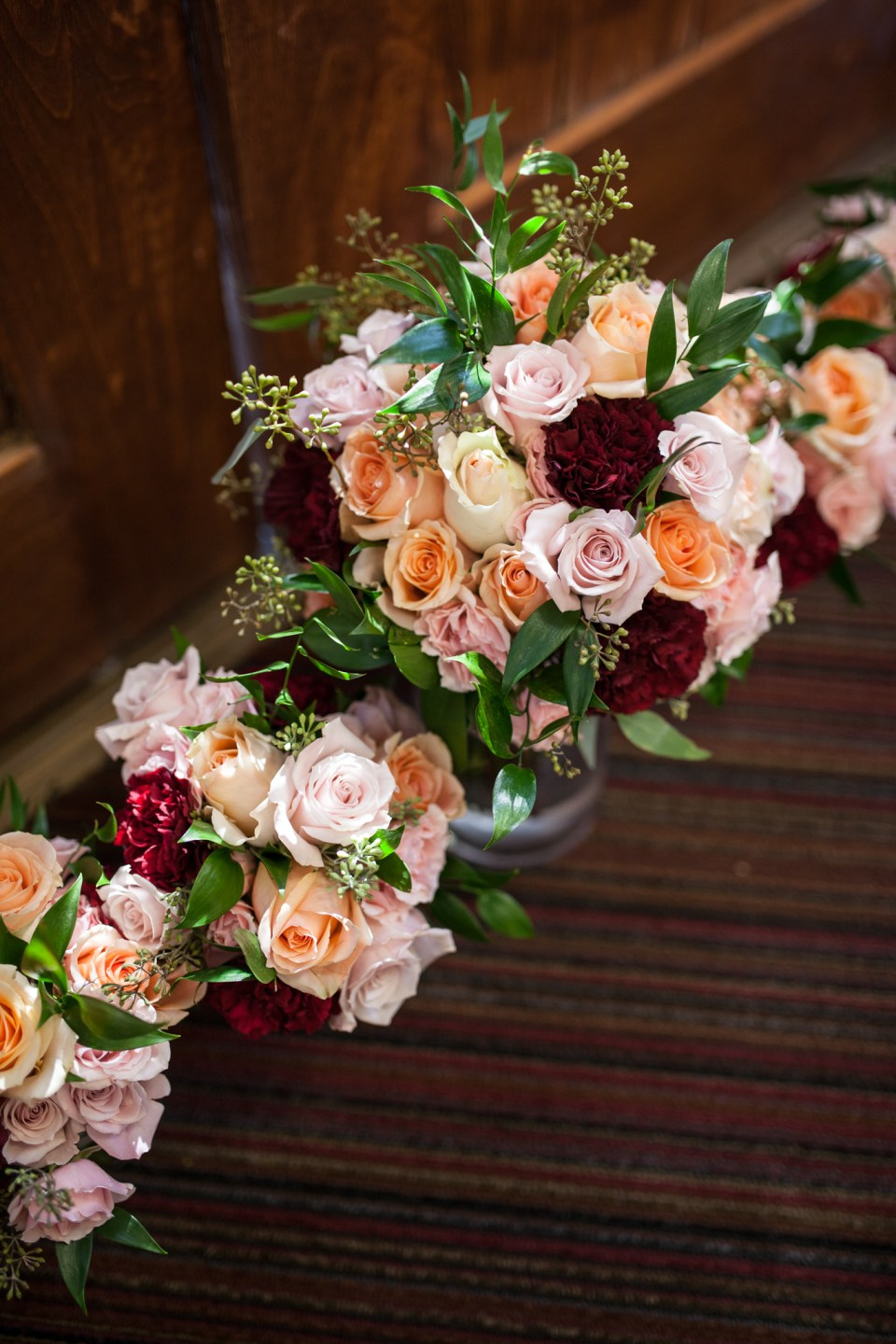 multi colored roses wedding flowers bridal bouquet