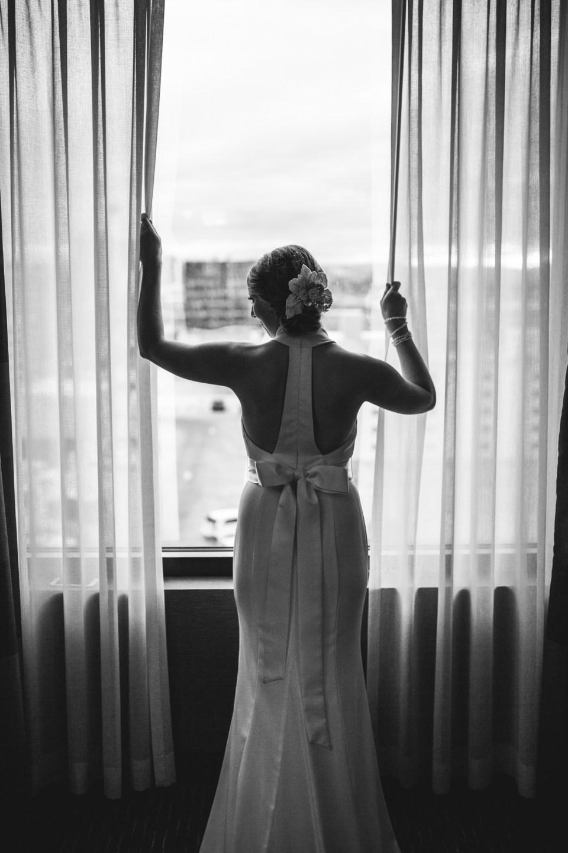 bride window silhouette