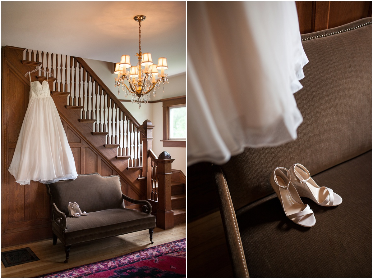 essence of australia wedding dress from Uptown Bridal in pink victorian house at The Farm at Dover and vince camuto shoes