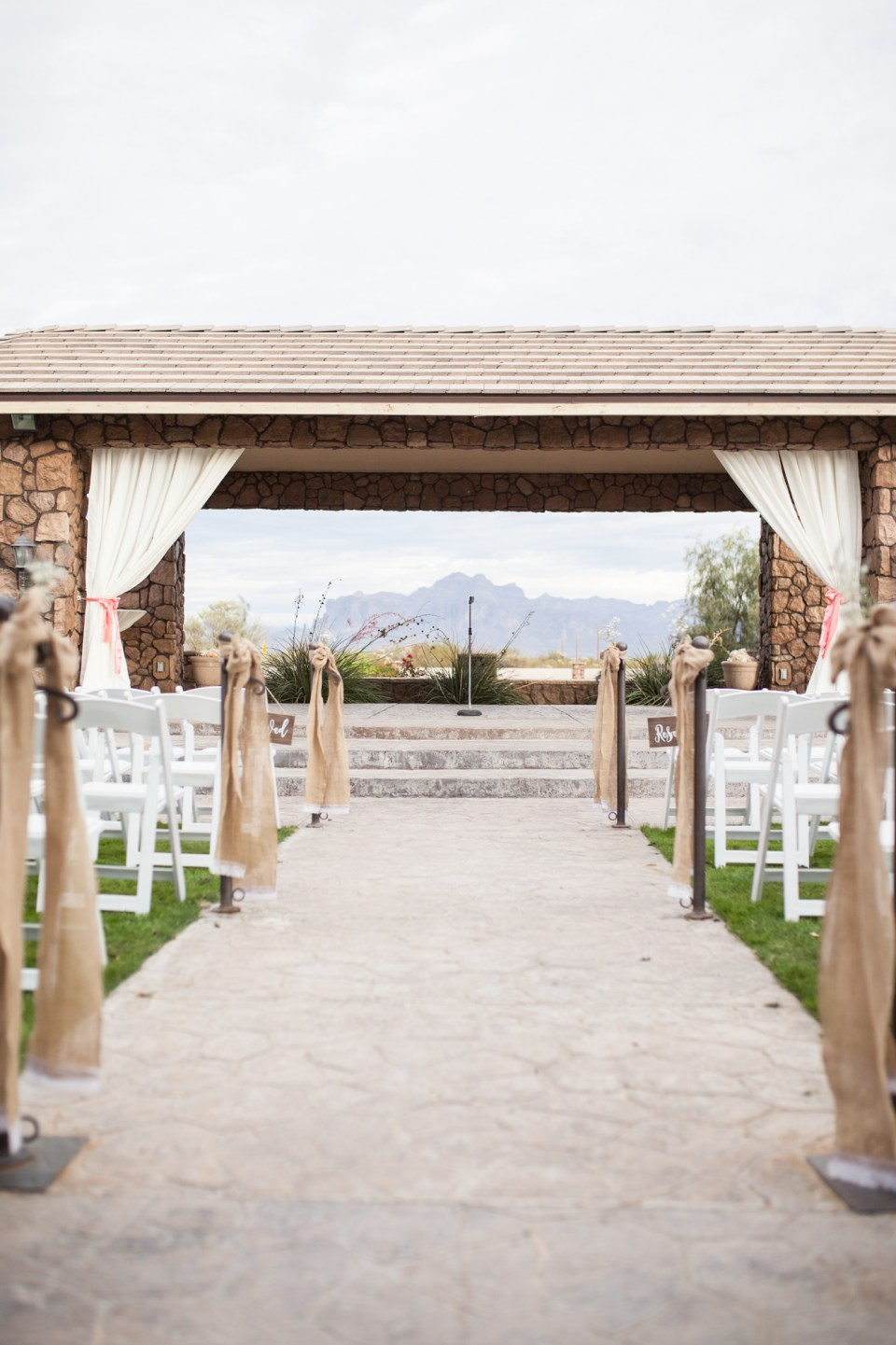 ceremony location outside of the Superstition Manor venue