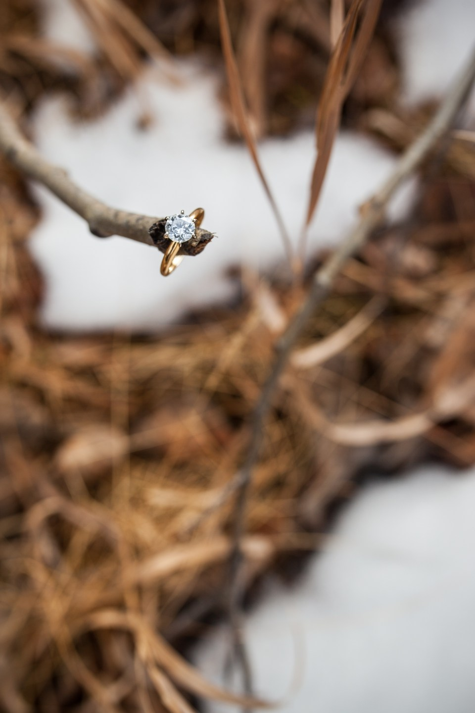 wedding ideas, engagement ring in snow, durango colorado winter wedding