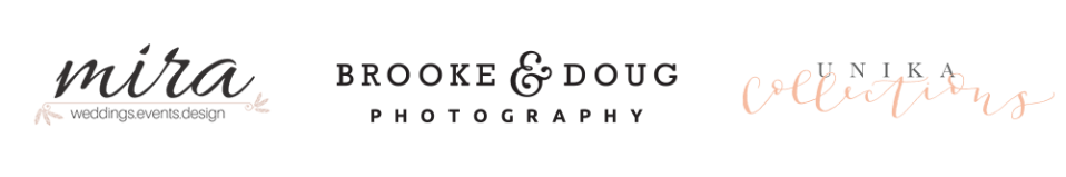 brooke and doug photography, mira wed, unika collections