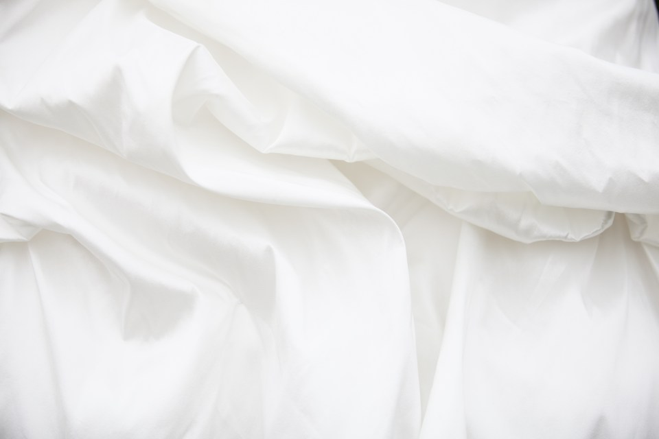 ruffled wedding dress texture