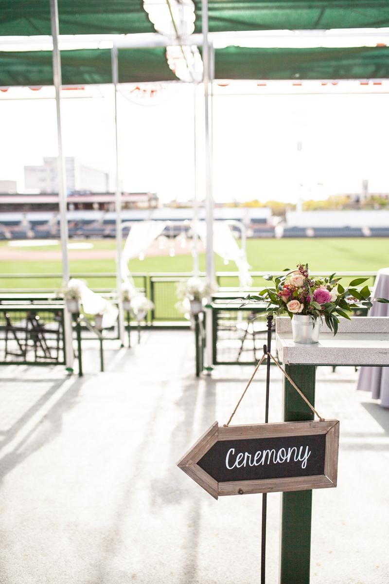 Scottsdale Arizona Wedding at Charro Baseball Stadium