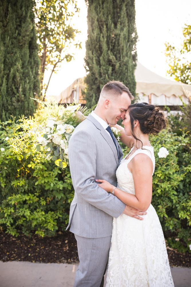 bride and groom Temecula winery wedding