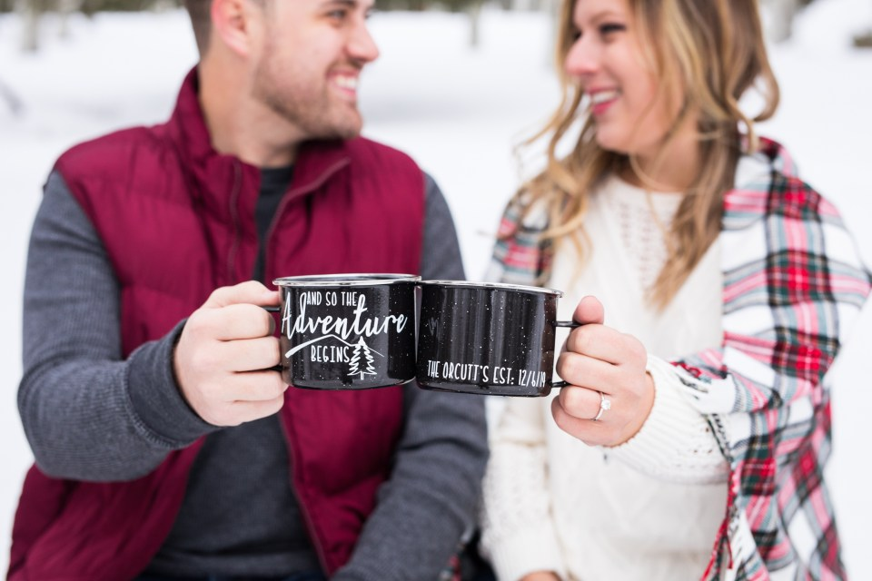 Snowy Flagstaff Engagement by Brooke & Doug Photography