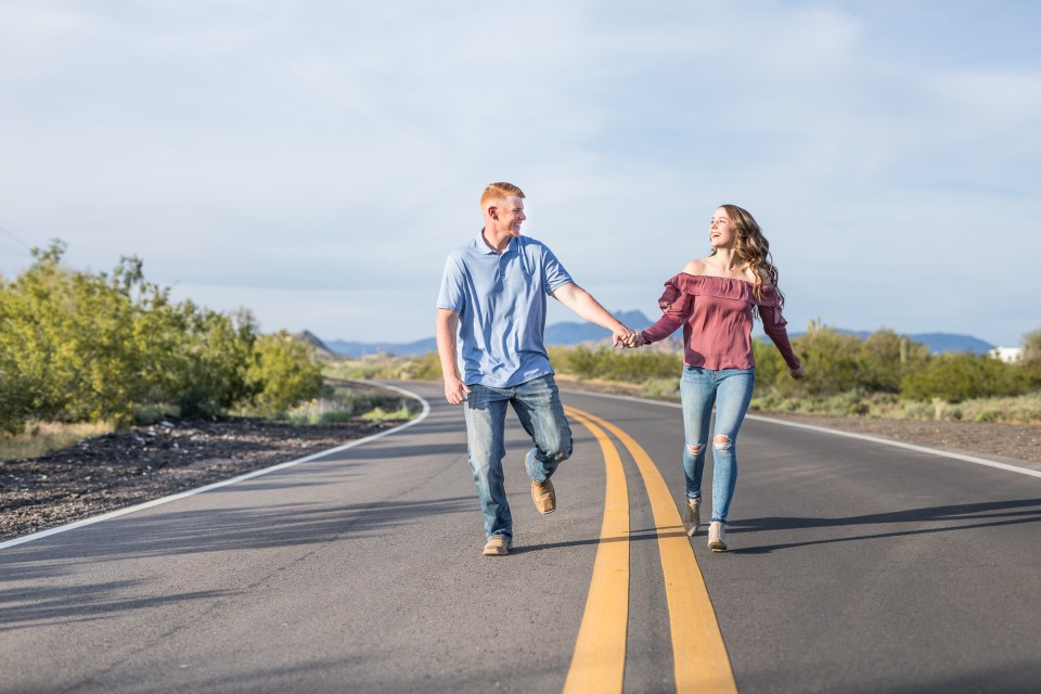 Superstition Mountains Engagement Pictures by Brooke & Doug Photography in Arizona