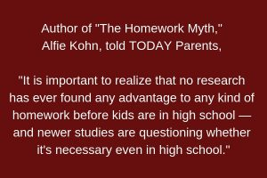 Alfie Kohnr Homework Quote