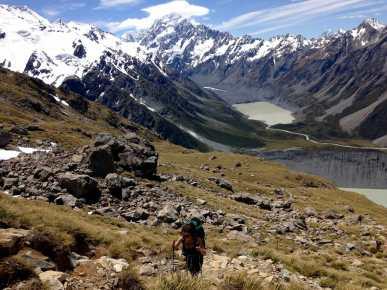 Climbing from Sealy Tarns