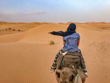 Jasmine on her camel