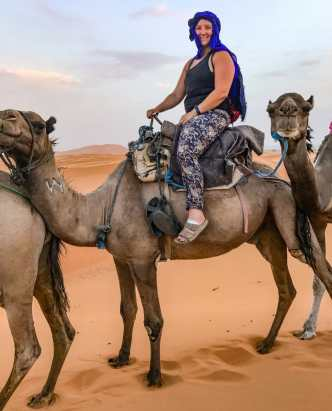 Katy on her camel