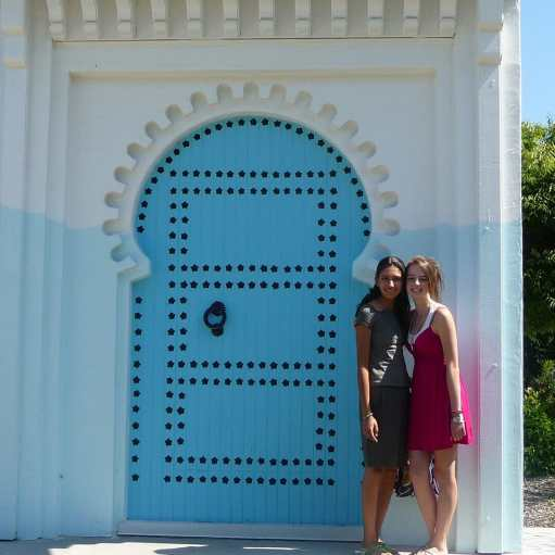Me and Hind in front of Issaquah's Blue Door in 2009