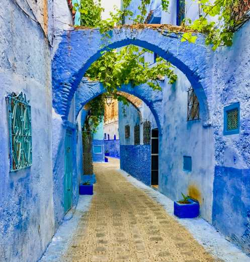 Approaching the main square in Chefchaouen