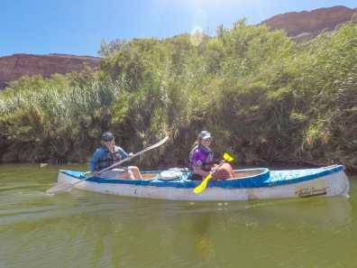 Tess & Kate paddling away