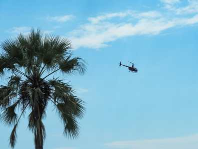 The chopper approaching