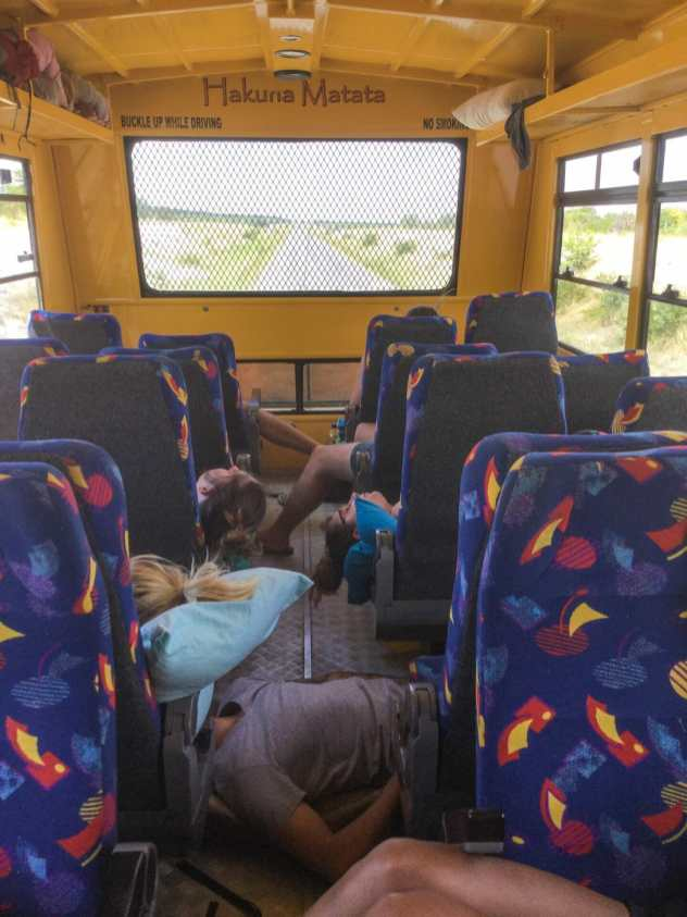 Everyone passed out in the truck
