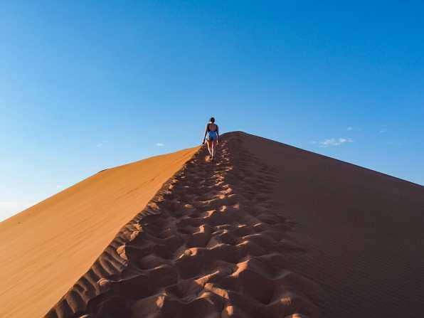 Walking up Dune 45