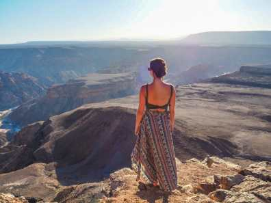 Looking out over Fish River Canyon