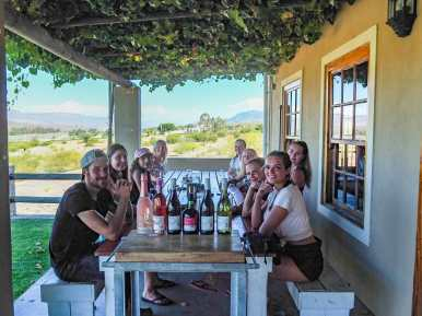 Wine tasting with the gang