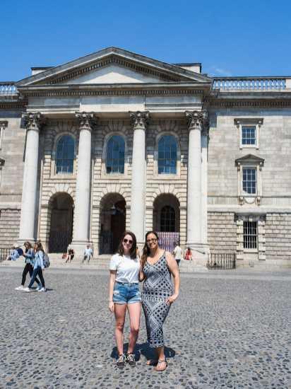 Me & Maryem exploring Trinity College