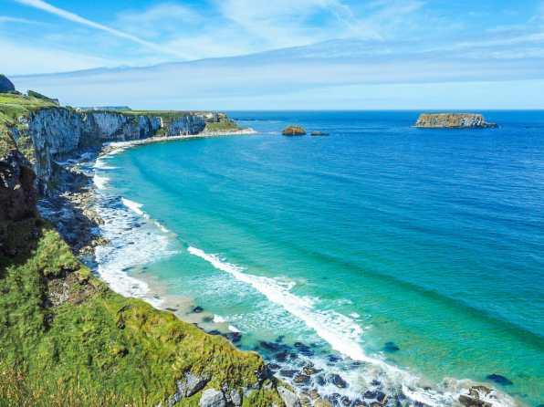 A million shades of blue on the Irish coast