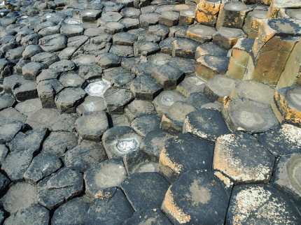 Thousands and thousands of hexagonal basalt columns