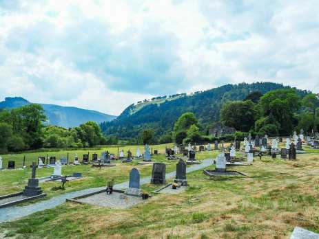 An incredibly scenic spot for a cemetery