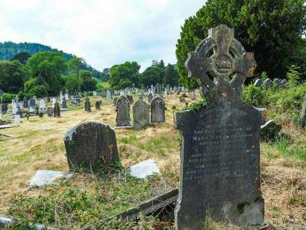 The historic cemetery in Glendalough