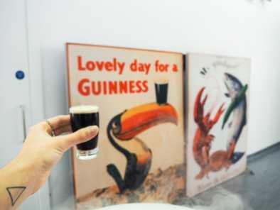 Our little Guinness samples in the tasting room