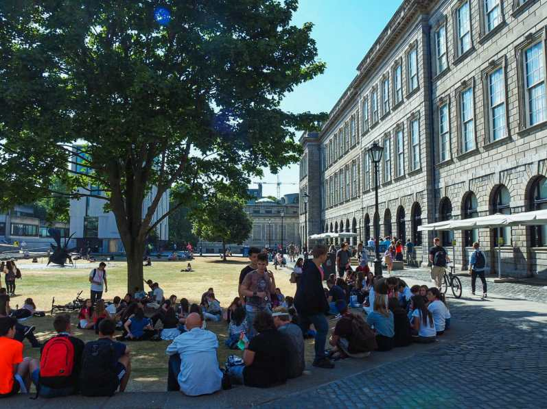 Students enjoying a day in the sun