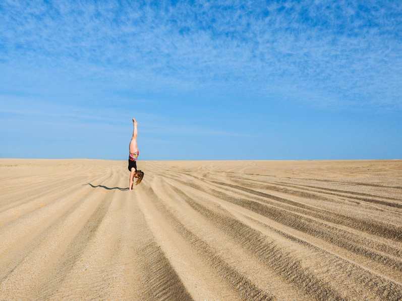 Diana practising her handstand