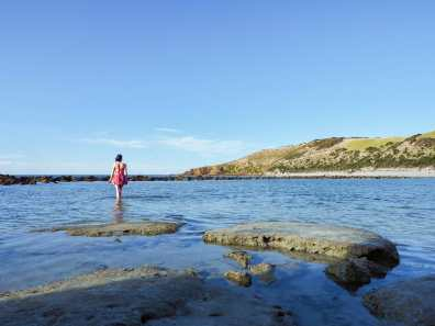Splashing around at Stokes Bay