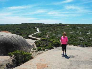 Mum at Remarkable Rocks