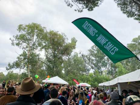 Winery Walkabout festivities at Pfeiffer
