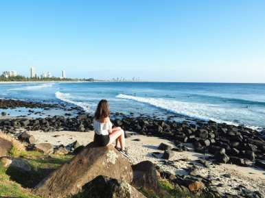 Incredible morning views at Burleigh Beach
