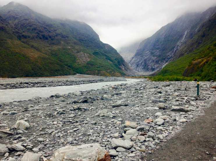 Walking to Fox Glacier