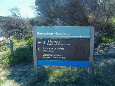 The start of the Barrenjoey Lighthouse Walk